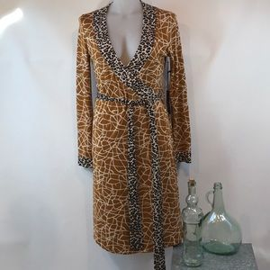 BCBG NWT Animal Print Wrap Dress